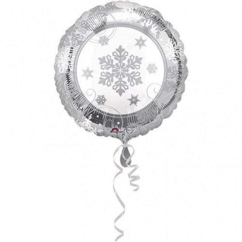 Ballon Hélium Flocons Argent