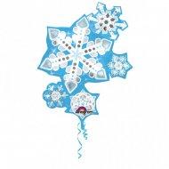 Ballon G�ant 5 Flocons (88 cm)
