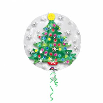 Double Ballon à Plat Sapin (60 cm)