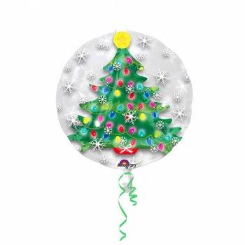 Double Ballon Hélium Sapin (60 cm)