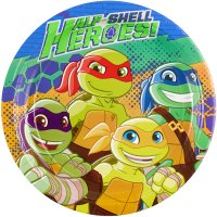 Contient : 1 x 8 Assiettes Tortues Ninja - Half-Shell Heroes