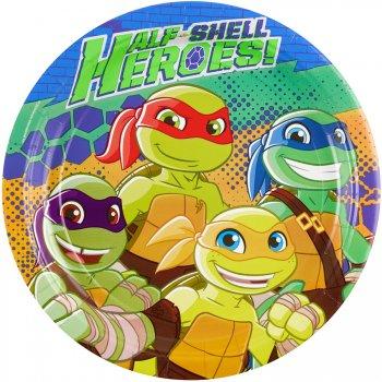 8 Assiettes Tortues Ninja - Half-Shell Heroes