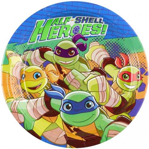 8 Petites Assiettes Tortues Ninja - Half-Shell Heroes
