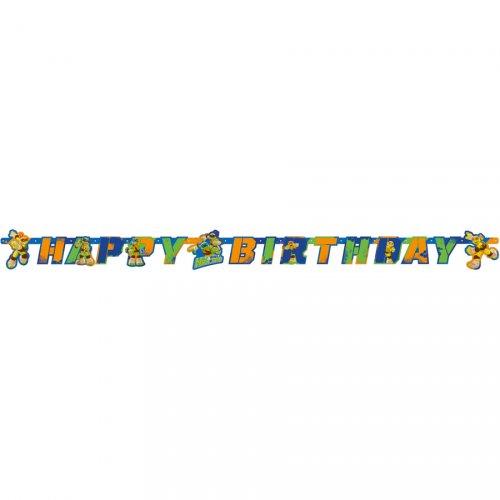Guirlande lettres Happy Birthday Tortues Ninja - Half-Shell Heroes