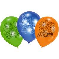 Contient : 1 x 6 Ballons Ninja - Half-Shell Heroes