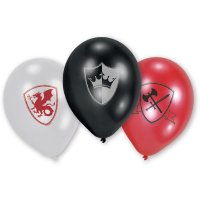 Contient : 1 x 6 Ballons Chevalier de Feu