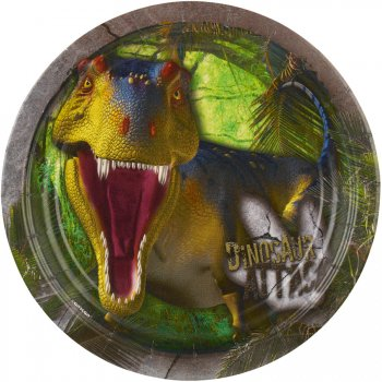 8 Assiettes Dinosaures Attack