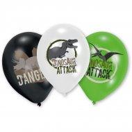 6 Ballons Dinosaures Attack (28 cm)