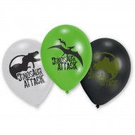 6 Petits Ballons Dinosaures Attack (23 cm)