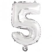 Ballon Chiffre 5 Argent (46 cm)