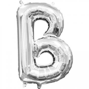 Ballon Lettre B Argent (33 cm)