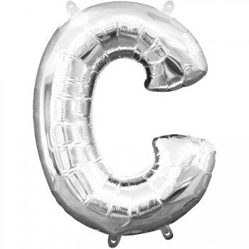 Ballon Lettre C Argent (33 cm)