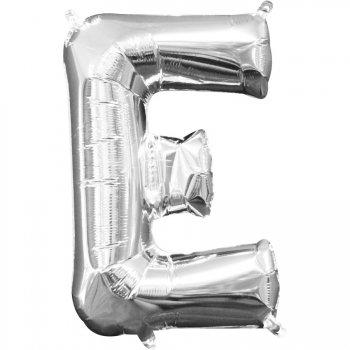 Ballon Lettre E Argent (33 cm)