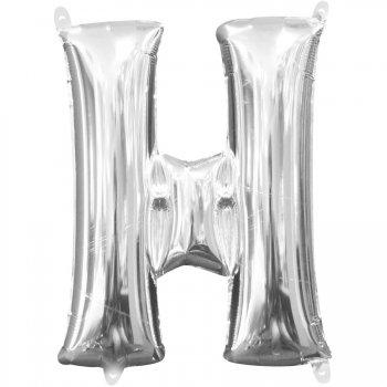 Ballon Lettre H Argent (33 cm)