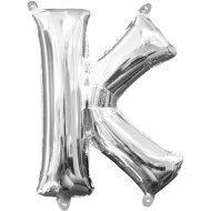 Ballon Lettre K Argent (33 cm)