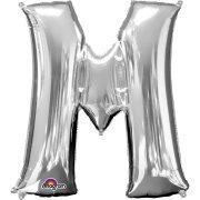 Ballon Lettre M Argent (33 cm)
