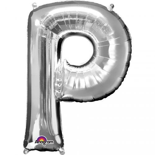 Ballon Lettre P Argent (33 cm)