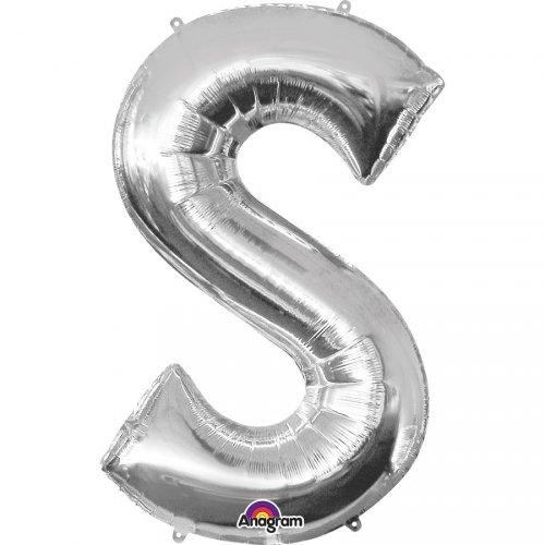 Ballon Lettre S Argent (33 cm)