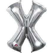 Ballon Lettre X Argent (35 cm)