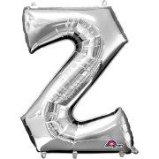 Ballon Lettre Z Argent (33 cm)