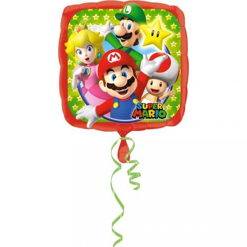 Ballon Gonflé à l Hélium Mario et Luigi (43 cm)