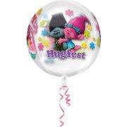 Ballon Orbz Crystal Trolls à Plat (40 cm)