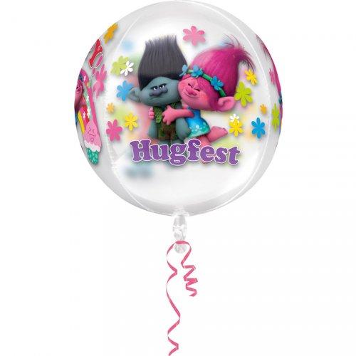 Ballon Orbz Crystal Trolls Gonflé à l Hélium (40 cm)
