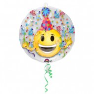 Double Ballon Emoji Party à Plat (60 cm)