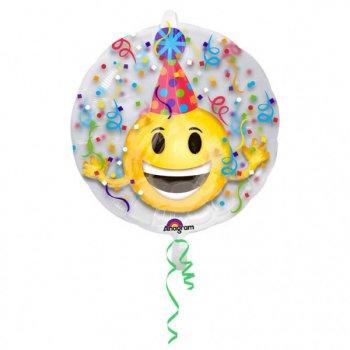 Double Ballon Emoji Party à Plat (60 cm)