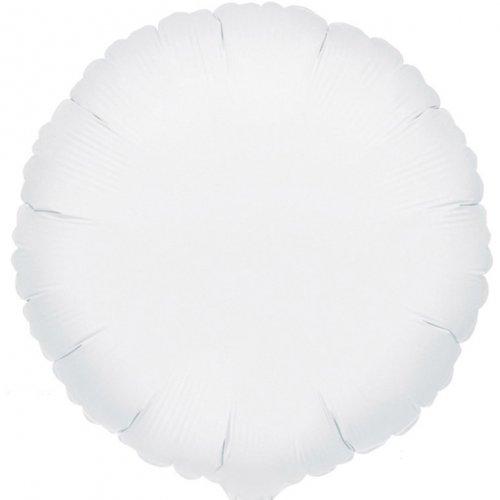 Ballon Disque Blanc Métal (43 cm)