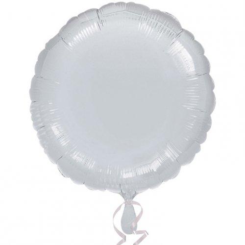Ballon Disque Argent Métal (43 cm)