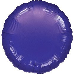Ballon Disque Violet Métal (43 cm)