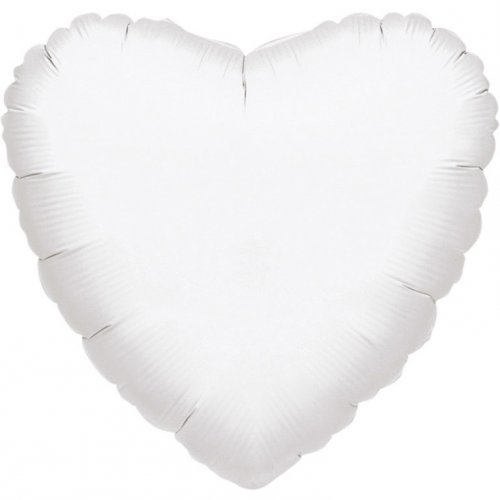 Ballon Coeur Blanc Métal (43 cm)