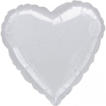 Ballon Coeur Argent Métal (43 cm)