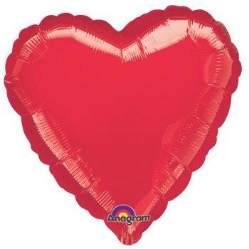 Ballon Coeur Rouge Métal (43 cm)