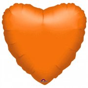Ballon Coeur Orange Métal (43 cm)