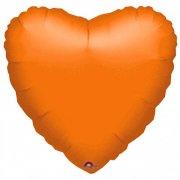 Ballon Coeur Orange Métal (43 cm)