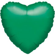 Ballon Coeur Vert Métal (43 cm)