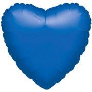 Ballon Coeur Bleu Métal (43 cm)