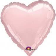 Ballon Coeur Rose Pastel Métal (43 cm)