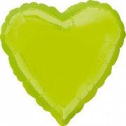 Ballon Coeur Vert Anis Métal (43 cm)