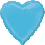 Ballon Coeur Turquoise Métal (43 cm)