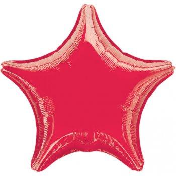 Ballon Etoile Rouge Métal (48 cm)