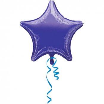 Ballon Etoile Violet Métal (48 cm)