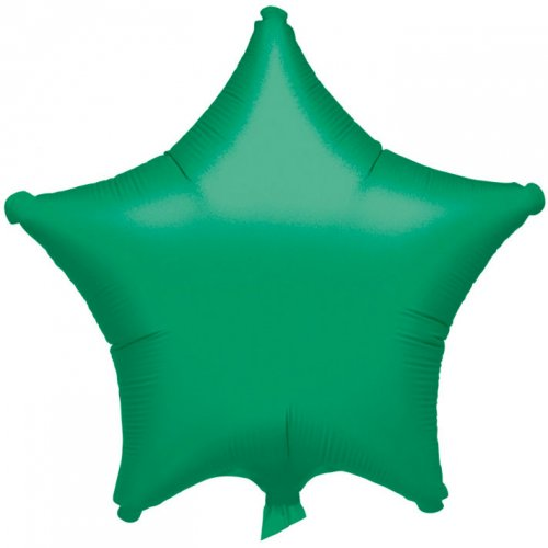 Ballon Etoile Vert Métal (48 cm)