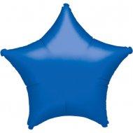 Ballon Etoile Bleu Métal (48 cm)