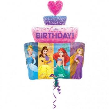 Ballon Géant Gâteau Princesses Disney (71 cm)