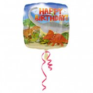 Ballon Hélium Happy Birthday Dino