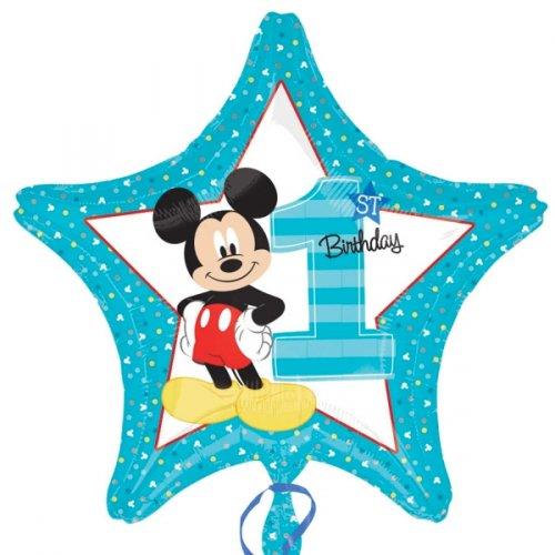 Ballon à Plat Etoile Mickey 1 an