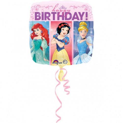 Ballon à Plat Happy Birthday Princesses Disney